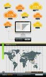 Elemente von Infographics mit Tasten Stockfotografie