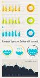 Elemente von Infographics mit Tasten und Menüs Lizenzfreies Stockfoto