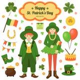 Elemente von St- Patrick` s Tag lizenzfreie abbildung