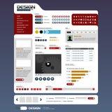 Elementen 6 van het Ontwerp van het Web (Helder Thema) Vector Stock Afbeelding