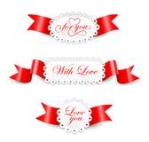 Elementen aan de Dag van Valentijnskaarten Stock Fotografie