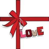 Elementen aan de Dag van Valentijnskaarten, hart Stock Foto's