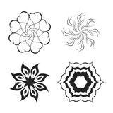 Elementen - abstracte bloem en ster stock illustratie