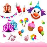 Elementen Carnaval & Funfair Royalty-vrije Stock Afbeeldingen