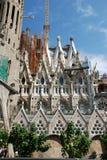 Elementen en details Sagrada Familia in Barcelona Stock Foto