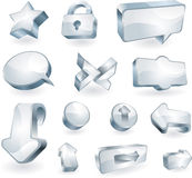 Elementen en pictogrammen Royalty-vrije Stock Afbeelding