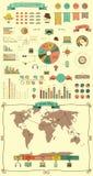 Elementen en Pictogrammen van Infographics Stock Afbeelding