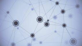 Elementen en verbindingen in dynamisch netwerk Loopable conceptuele animatie vector illustratie