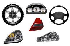 Elementen van auto Stock Afbeeldingen