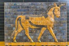 Elementen van de Antiquiteit van de Babylonian-Muur stock afbeelding