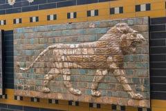 Elementen van de Antiquiteit van de Babylonian-Muur royalty-vrije stock fotografie
