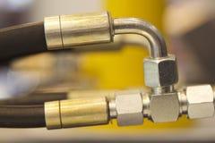 Elementen van de hydraulica en de pneumatiek van leidingenverbindingen royalty-vrije stock afbeelding