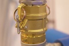 Elementen van de hydraulica en de pneumatiek van leidingenverbindingen royalty-vrije stock foto's