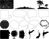 Elementen van de tekening Royalty-vrije Stock Afbeeldingen