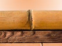 Elementen van een decor een bamboe een raad Stock Afbeeldingen