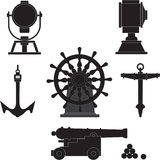Elementen van eeuwenoude schepen Royalty-vrije Stock Afbeelding