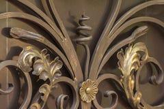 Elementen van het decor van de smeedijzerpoort royalty-vrije stock fotografie