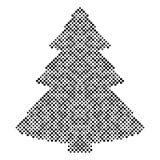 Elementen van het kerstboom halftone ontwerp Stock Foto's