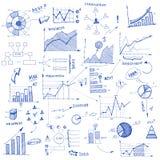 Elementen van het krabbel de infographic ontwerp Stock Afbeelding