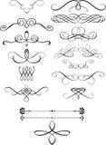 Elementen van het ornament royalty-vrije illustratie