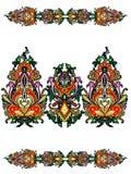 Elementen van het Russische ornament Royalty-vrije Stock Foto's