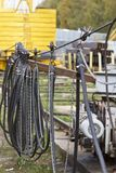 Elementen van het systeem om een huidig-draagt kabel te vervoeren royalty-vrije stock foto