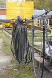 Elementen van het systeem om een huidig-draagt kabel te vervoeren royalty-vrije stock fotografie