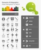 Elementen van Infographics Stock Fotografie