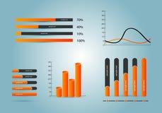Elementen van infographics Stock Foto