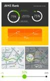 Elementen van infographics Royalty-vrije Stock Afbeeldingen