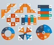 Elementen van infographics, cirkeldiagrammen Royalty-vrije Stock Foto