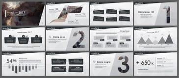 Elementen van infographics in lage polystijl Royalty-vrije Stock Afbeeldingen