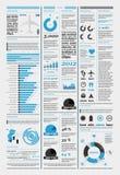 Elementen van infographics met de vliegtuigen Royalty-vrije Stock Afbeeldingen