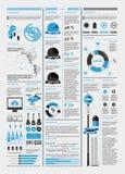 Elementen van infographics met een kaart Stock Afbeeldingen