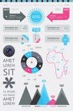 Elementen van Infographics met knopen Royalty-vrije Stock Foto's