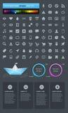 Elementen van Infographics met knopen Stock Afbeeldingen