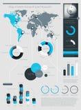 Elementen van Infographics met knopen Stock Afbeelding