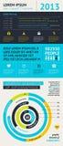 Elementen van Infographics met knopen en menu's Stock Foto's