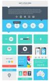 Elementen van Infographics met knopen en menu's Stock Afbeelding