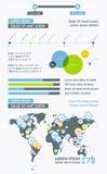 Elementen van Infographics met knopen en menu's Royalty-vrije Stock Afbeeldingen