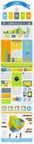 Elementen van infographics op het vliegtuig Royalty-vrije Stock Foto's