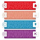 Elementen van infographics, vectorillustratie Stock Foto