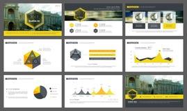 Elementen van infographics voor presentatiesmalplaatjes Stock Afbeeldingen