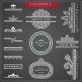 Elementen van Kalligrafie Royalty-vrije Stock Foto's
