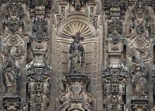 Elementen van Kathedraal op Zocalo, Mexico-City royalty-vrije stock afbeeldingen