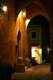 Elementen van middeleeuwse architectuur. Rhodos, Griekenland. royalty-vrije stock foto's