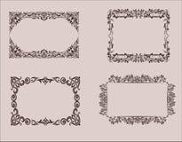 Elementen van ontwerp Kader, grenzen Vector grafiek wijnoogst Royalty-vrije Stock Foto