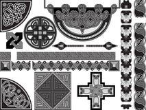 Elementen van ontwerp in Keltisch Royalty-vrije Stock Foto