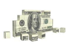 Elementen van raadsel met bankbiljet van dollar vector illustratie