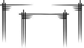 Elementen voor de Chinese pagoden van de ontwerpgrafiek Stock Fotografie